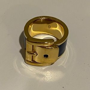 Michael Kors ring, navy and gold size 6